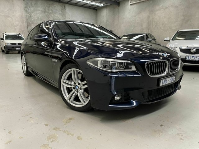 Used BMW 5 Series F10 LCI 535d Steptronic M Sport, 2013 BMW 5 Series F10 LCI 535d Steptronic M Sport Blue 8 Speed Sports Automatic Sedan