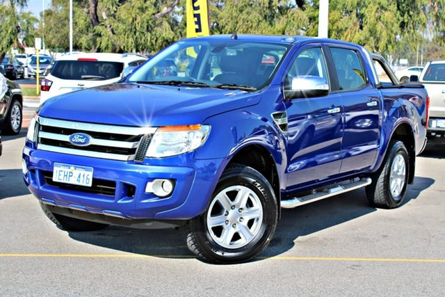 Used Ford Ranger PX XLT Double Cab, 2013 Ford Ranger PX XLT Double Cab Blue 6 Speed Sports Automatic Utility