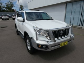 2014 Toyota Landcruiser Prado KDJ150R MY14 GXL White 5 Speed Sports Automatic Wagon.