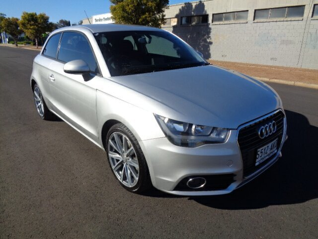 Used Audi A1 8X MY11 Ambition S Tronic, 2010 Audi A1 8X MY11 Ambition S Tronic Silver 7 Speed Sports Automatic Dual Clutch Hatchback