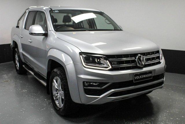 Used Volkswagen Amarok 2H MY17 TDI550 4MOTION Perm Highline, 2017 Volkswagen Amarok 2H MY17 TDI550 4MOTION Perm Highline Silver 8 Speed Automatic Utility