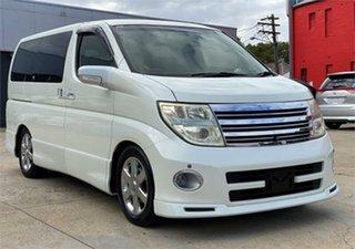 2005 Nissan Elgrand ME51 Highwaystar White Automatic Wagon.