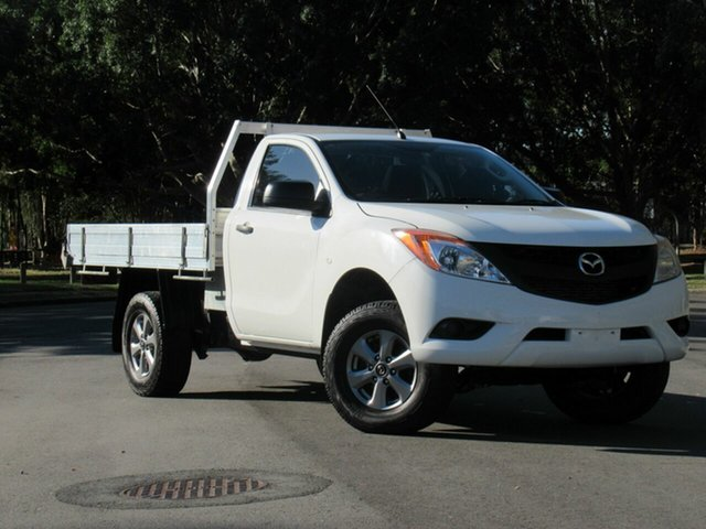 Used Mazda BT-50 UP0YF1 XT 4x2 Hi-Rider, 2014 Mazda BT-50 UP0YF1 XT 4x2 Hi-Rider White 6 Speed Manual Cab Chassis