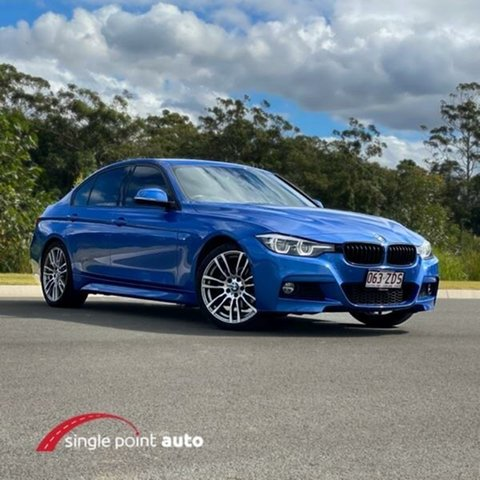 Used BMW 3 Series F30 LCI 320i M Sport, 2018 BMW 3 Series F30 LCI 320i M Sport Blue 8 Speed Sports Automatic Sedan