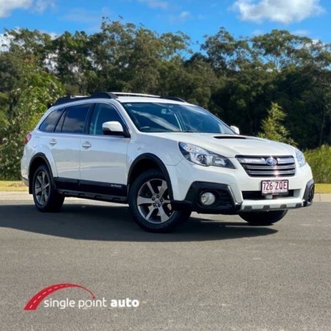 Used Subaru Outback B5A MY13 2.0D Lineartronic AWD Premium, 2013 Subaru Outback B5A MY13 2.0D Lineartronic AWD Premium White 7 Speed Constant Variable Wagon