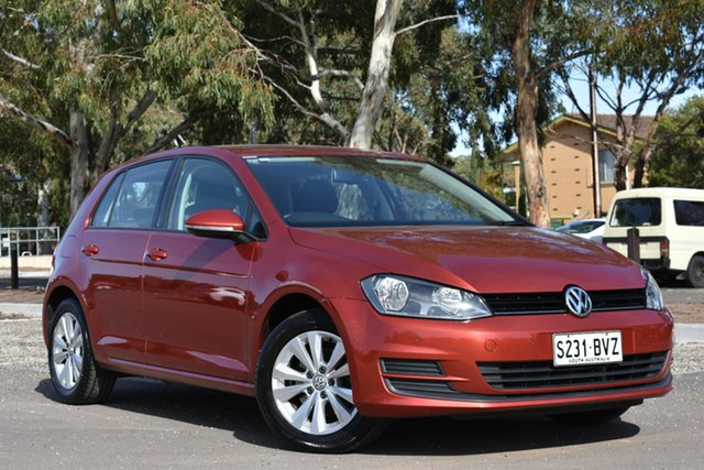 Used Volkswagen Golf VII MY15 90TSI DSG Comfortline, 2015 Volkswagen Golf VII MY15 90TSI DSG Comfortline Burgundy 7 Speed Sports Automatic Dual Clutch