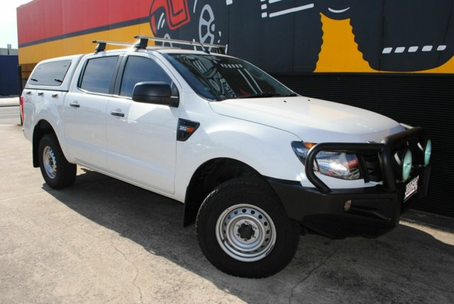 Used Ford Ranger PX XL Double Cab, 2014 Ford Ranger PX XL Double Cab Cool White 6 Speed Sports Automatic Utility
