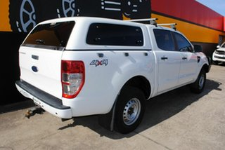 2014 Ford Ranger PX XL Double Cab Cool White 6 Speed Sports Automatic Utility.