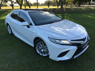 2018 Toyota Camry ASV70R SL Frosted White 6 Speed Sports Automatic Sedan.