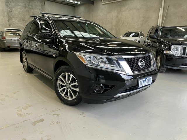 Used Nissan Pathfinder R52 MY14 ST X-tronic 2WD, 2013 Nissan Pathfinder R52 MY14 ST X-tronic 2WD Black 1 Speed Constant Variable Wagon