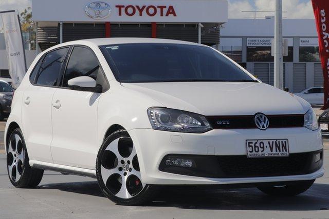 Used Volkswagen Polo 6R MY14 GTI DSG, 2013 Volkswagen Polo 6R MY14 GTI DSG White 7 Speed Sports Automatic Dual Clutch Hatchback