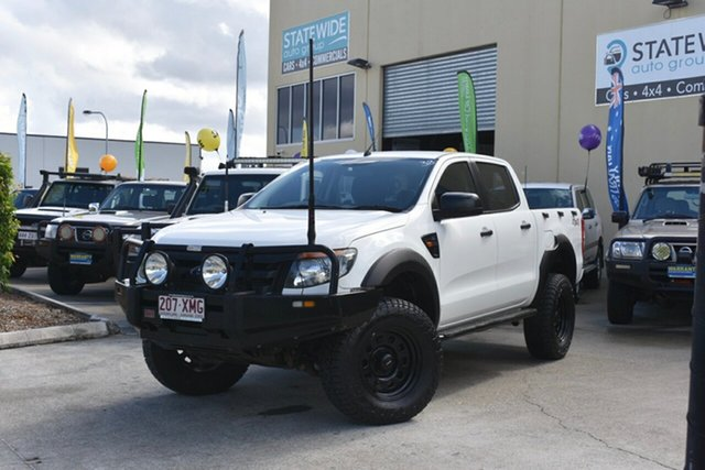 Used Ford Ranger PX XL 3.2 (4x4), 2013 Ford Ranger PX XL 3.2 (4x4) White 6 Speed Automatic Dual Cab Utility