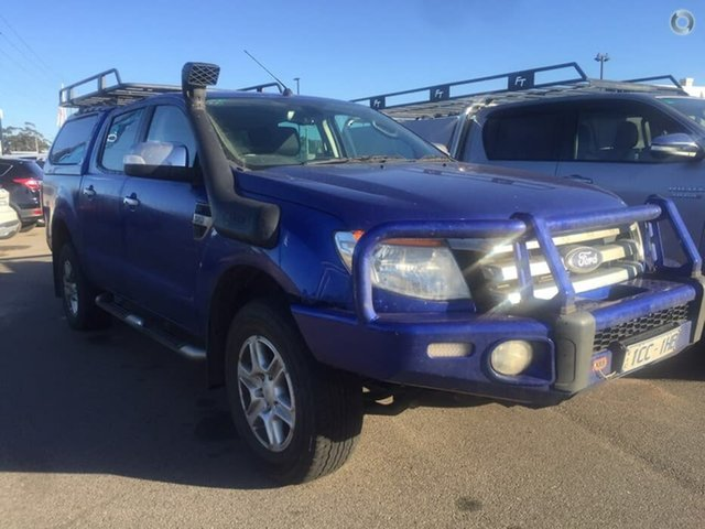 Used Ford Ranger PX XLT Double Cab, 2014 Ford Ranger PX XLT Double Cab Aurora Blue 6 Speed Sports Automatic Utility
