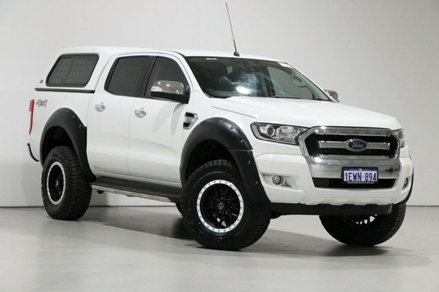Used Ford Ranger PX MkII XLT 3.2 (4x4), 2015 Ford Ranger PX MkII XLT 3.2 (4x4) White 6 Speed Automatic Dual Cab Utility