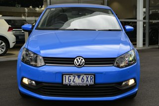 2016 Volkswagen Polo 6R MY16 66TSI DSG Trendline Blue 7 Speed Sports Automatic Dual Clutch Hatchback