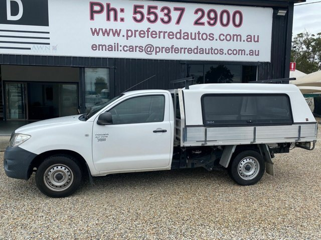 Used Toyota Hilux TGN16R MY11 Upgrade Workmate, 2010 Toyota Hilux TGN16R MY11 Upgrade Workmate White 5 Speed Manual Cab Chassis