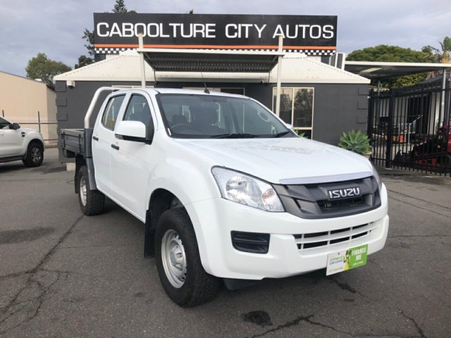 Used Isuzu D-MAX TF MY15.5 SX (4x4), 2016 Isuzu D-MAX TF MY15.5 SX (4x4) White 5 Speed Automatic Crew Cab Chassis