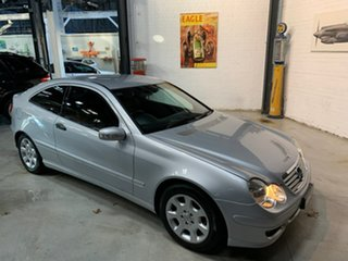 2004 Mercedes-Benz C-Class CL203 MY2005 C180 Kompressor Sports Silver 5 Speed Automatic Coupe.