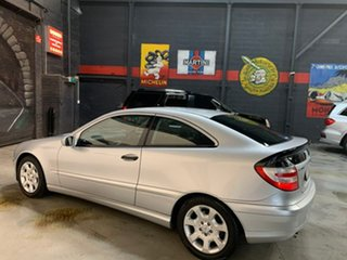2004 Mercedes-Benz C-Class CL203 MY2005 C180 Kompressor Sports Silver 5 Speed Automatic Coupe