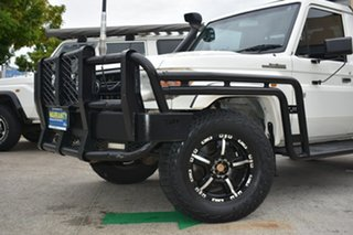 2011 Toyota Landcruiser VDJ79R 09 Upgrade Workmate (4x4) White 5 Speed Manual Cab Chassis.
