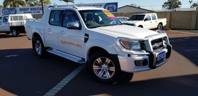 Used Ford Ranger PK Wildtrak Crew Cab, 2009 Ford Ranger PK Wildtrak Crew Cab White 5 Speed Manual Utility