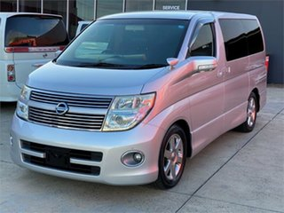2007 Nissan Elgrand E51 Highwaystar Silver Automatic Wagon.