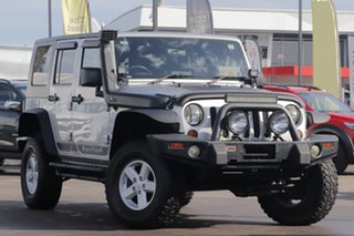 2007 Jeep Wrangler JK Unlimited Sport Silver 6 Speed Manual Softtop.