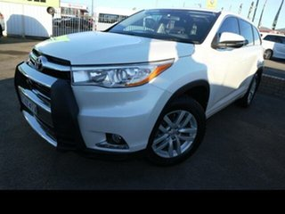 2014 Toyota Kluger GSU55R GX (4x4) White 6 Speed Automatic Wagon.