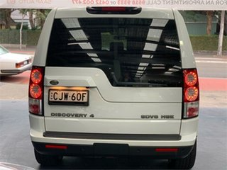 2013 Land Rover Discovery 4 Series 4 L319 SDV6 HSE Fuji White Sports Automatic Wagon