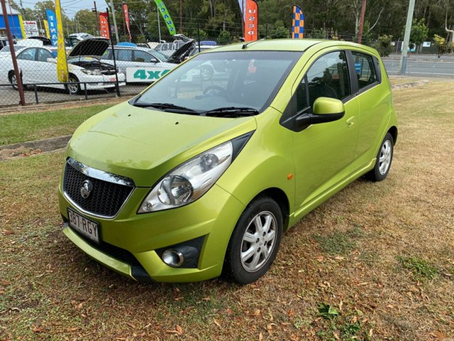 Used Holden Barina Spark MJ MY11 CD, 2010 Holden Barina Spark MJ MY11 CD Green 5 Speed Manual Hatchback
