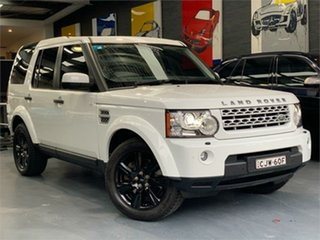 2013 Land Rover Discovery 4 Series 4 L319 SDV6 HSE Fuji White Sports Automatic Wagon.