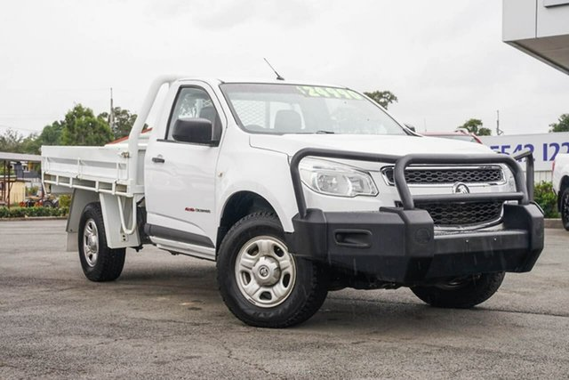 Used Holden Colorado RG MY15 DX, 2015 Holden Colorado RG MY15 DX Heron White 6 Speed Manual Cab Chassis