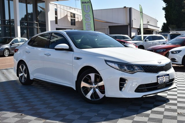 Used Kia Optima JF MY17 GT, 2017 Kia Optima JF MY17 GT White 6 Speed Sports Automatic Sedan