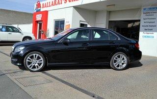 2013 Mercedes-Benz C200 W204 MY12 BE Black 7 Speed Automatic G-Tronic Sedan.