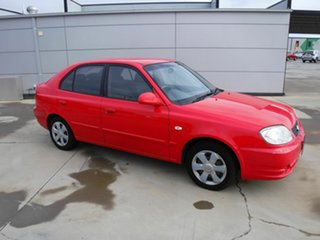 2004 Hyundai Accent LC MY04 GL Red 4 Speed Automatic Hatchback.