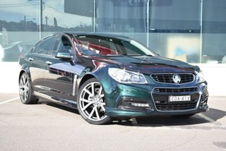 2013 Holden Commodore VF MY14 SV6 Green 6 Speed Sports Automatic Sedan.