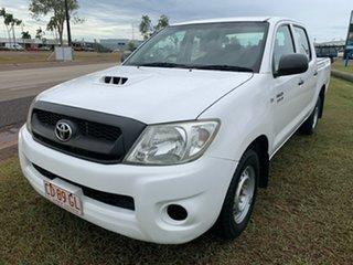 2010 Toyota Hilux KUN16R MY10 SR 4x2 White 5 Speed Manual Utility.