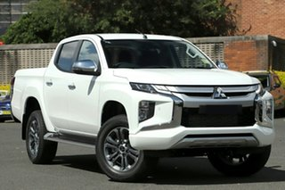 2019 Mitsubishi Triton MR MY20 GLS Double Cab White 6 Speed Sports Automatic Utility