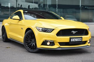 2016 Ford Mustang FM GT Fastback Yellow 6 Speed Manual Fastback.