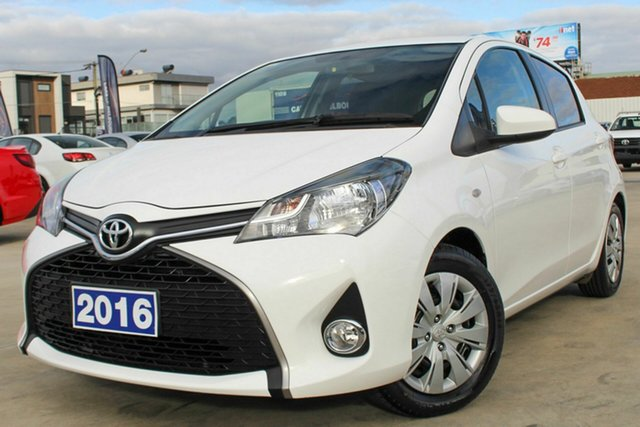Used Toyota Yaris NCP131R SX, 2016 Toyota Yaris NCP131R SX White 4 Speed Automatic Hatchback