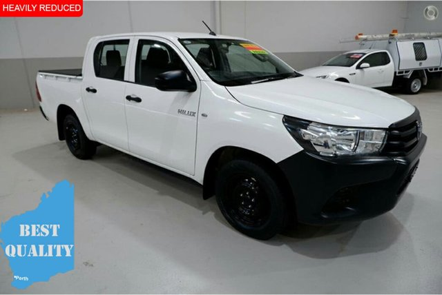 Used Toyota Hilux TGN121R Workmate Double Cab 4x2, 2015 Toyota Hilux TGN121R Workmate Double Cab 4x2 White 6 Speed Sports Automatic Utility