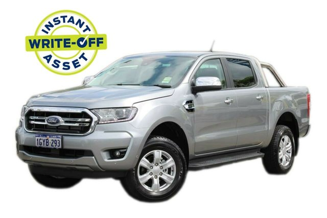 Demo Ford Ranger PX MkIII 2019.75MY XLT Pick-up Double Cab, 2019 Ford Ranger PX MkIII 2019.75MY XLT Pick-up Double Cab Silver 10 Speed Sports Automatic Utility