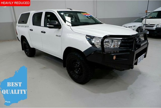 Used Toyota Hilux GUN125R Workmate Double Cab, 2015 Toyota Hilux GUN125R Workmate Double Cab White 6 Speed Sports Automatic Utility