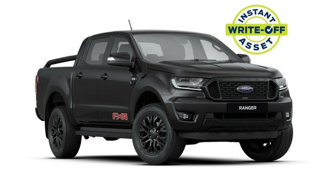 New Ford Ranger PX MkIII 2020.25MY FX4 Pick-up Double Cab, 2020 Ford Ranger PX MkIII 2020.25MY FX4 Pick-up Double Cab Shadow Black 6 Speed Sports Automatic