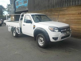 2010 Ford Ranger PK XL 4x2 Hi-Rider White 5 Speed Manual Cab Chassis.