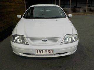 2001 Ford Falcon AU II SR Forte White 4 Speed Automatic Sedan