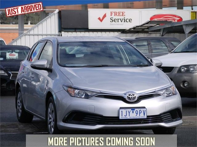Used Toyota Corolla ZRE182R Ascent, 2017 Toyota Corolla ZRE182R Ascent Silver Constant Variable Hatchback