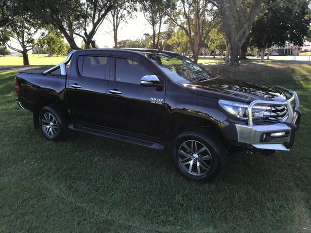 Used Toyota Hilux GUN126R SR5 Double Cab, 2016 Toyota Hilux GUN126R SR5 Double Cab Eclipse Black 6 Speed Sports Automatic Utility
