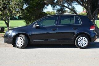 2010 Volkswagen Golf VI MY11 77TSI DSG Black 7 Speed Auto Sportshift Hatchback.