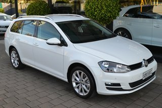 2015 Volkswagen Golf VII MY16 110TSI DSG Highline White 7 Speed Sports Automatic Dual Clutch Wagon.